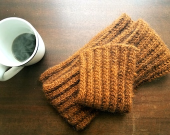 Rusty, wool, knit, scarf