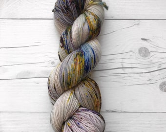 """Maven Sock - """"Hot Mess"""" - Fingering Weight - Hand Dyed Yarn"""