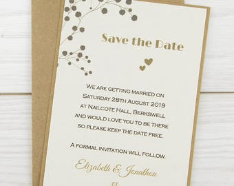 SAMPLE * The Barn Save the Date Cards Rustic Wedding Theme