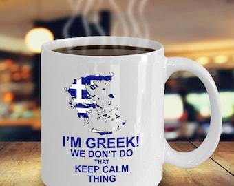 Cool Greek Coffee Mug – Greece Flag Mug Gift – Funny Unique Gift Idea for Greek Person Coffee Lover – Greek Holiday Festivals Gifts