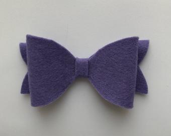 100% merino wool felt bow