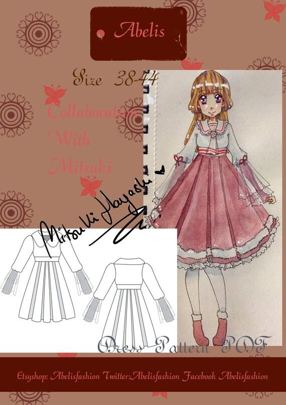 Lolita dress sewing pattern, sailor lolita, lolita dress, sweet ...