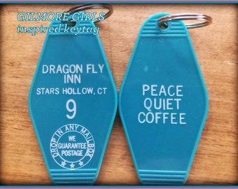 "On Sale!GILMORE GIRLS inspired ""Dragon Fly Inn"" keyfob"