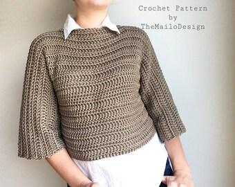 Crochet pattern for women, Crochet Pattern Clothing, Crochet Oversized Sweater Pattern,  Crochet Sweater, Crochet Clothing