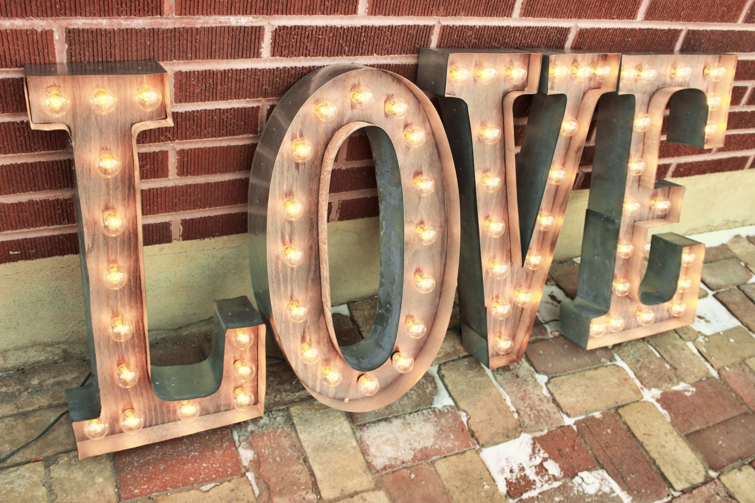 Metal Letter Signs With Lights 36 & Larger Letter Lights 4 Marquee Signs Light Up