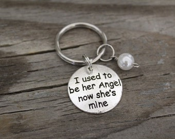 I Used To Be Her Angel Now She's Mine - Memorial Keyring/Keychain/Zipper Pull - Lost Mother - Lost Grandma - Lost Wife-Lost Daughter - I/B/H
