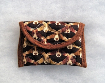 Quilted Card Holder - Basset Hound too