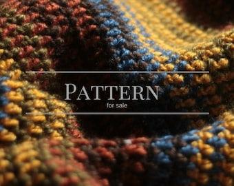 The Harvest Stripe crochet blanket pattern- an easy stripe afghan for beginners