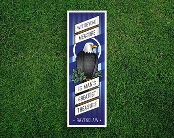 Long Bookmark | Ravenclaw Bookmark Wit Beyond Measure Is Man's Greatest Treasure Hogwarts Houses Bookmark Quidditch Harry Potter Bookmark