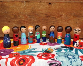 """Peg Doll """"I Love"""" Collection"""