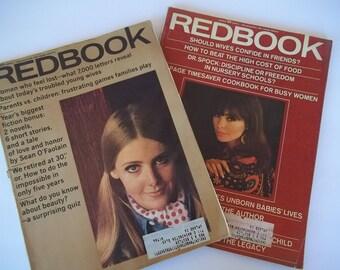 Original Vintage Redbook magazine set Aug 1966 March 1967 Stories fashions Ads of the 1960's