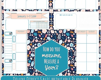 Direct Sales Planner for 2018- 12 Month Printable