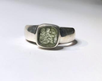 Moldavite Ring Us 6 1/4
