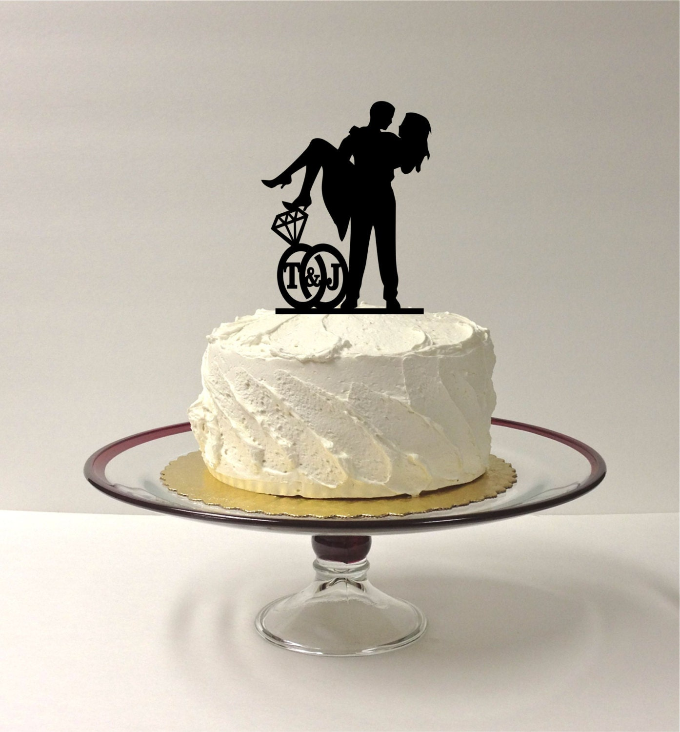 make wedding cake topper made in usa personalized wedding cake topper with your 17006