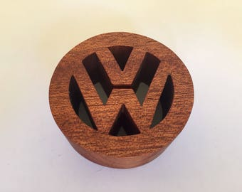 VW logo decoration. Shelf decoration, vw camper van logo.