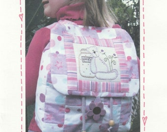 Teddy Backpack,Quilting sewing bag PATTERN ,The Birdhouse, NEW