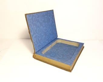 Hollow Book Safe Latin Grammar Dictionary Cloth Bound vintage Secret Compartment Security hiding place