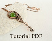 Tutorial jewelry DIY project - Tutorial wire wrapped pendant - Key pendant - Copper soldering