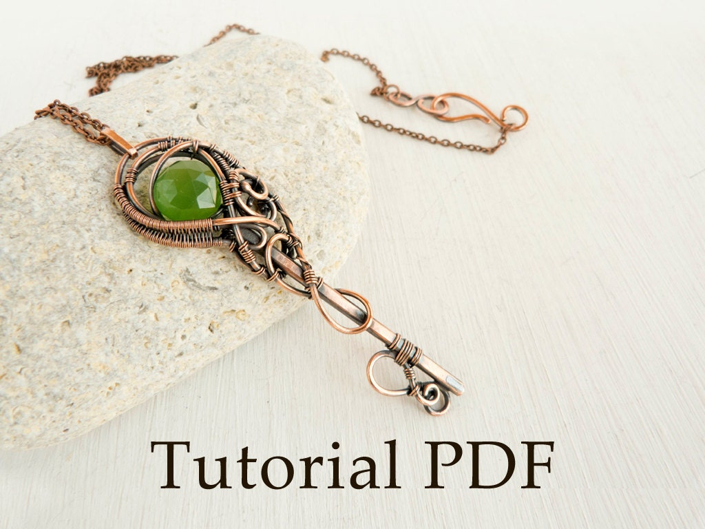Tutorial jewelry DIY project Tutorial wire wrapped pendant