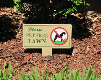 2 No Dog Pooping Pet Free Lawn Signs | No Dog Poop Stake |  No Poop No Pee Signs | No Dog Pooping Signs | No Pee No Poop Dog Sign | Dog Sign