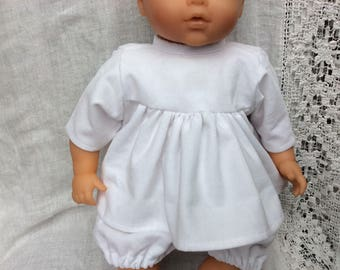 White blouse corduroy doll 42 cm