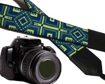 Native Americans inspired Camera strap.  Camera accessories. DSLR / SLR camera strap. Gift idea by InTePro