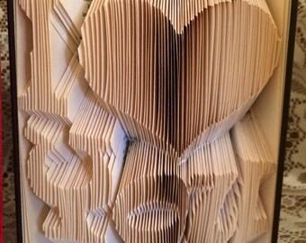 I Heart You Book Folding Pattern