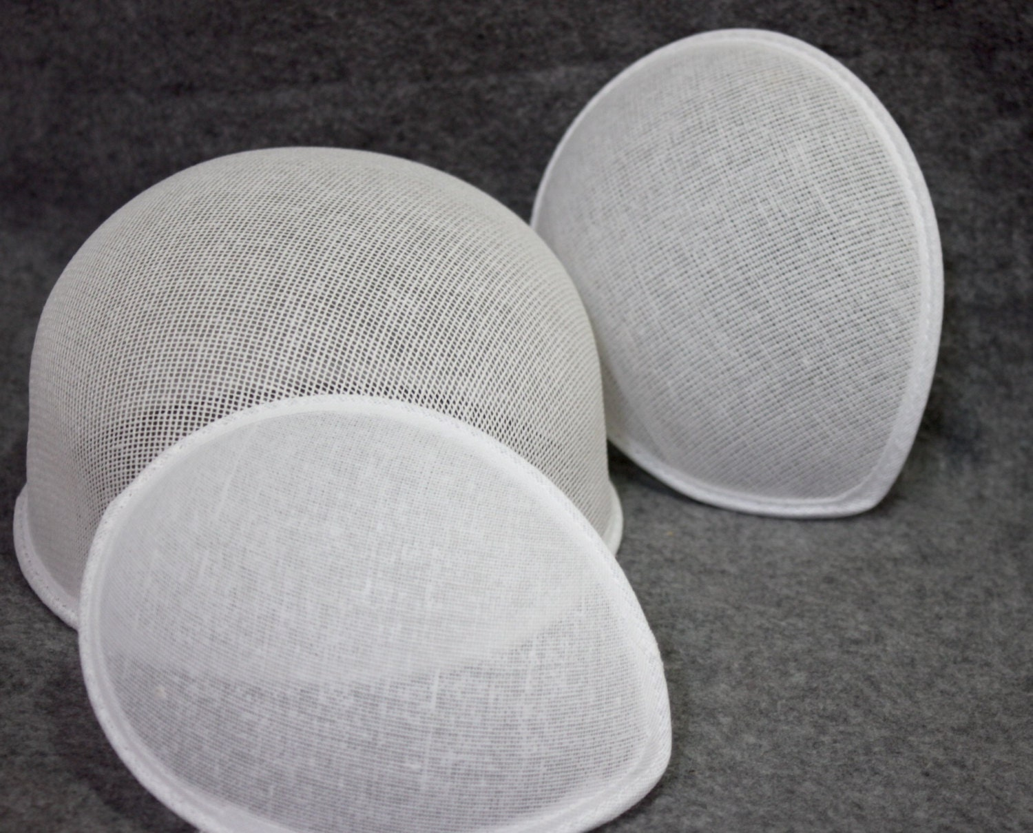 High cap Buckram form, millinery bucherame, top of hat ready to use ...