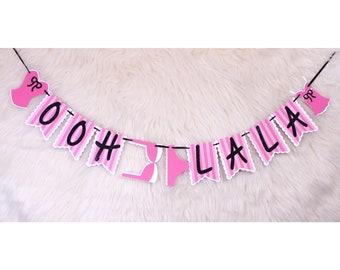 ooh la la banner - lingerie banner - liner party banner - lingerie party - bachelorette banner - bachelorette party - bridal shower banner