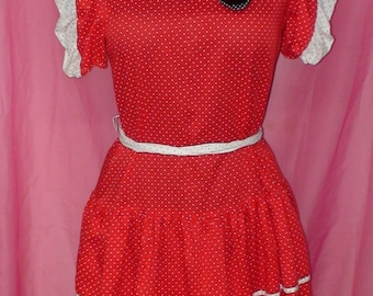 Vintage Polka Dot Square Dance Dress!