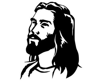 Jesus Decal, Jesus Portrait Bumper Sticker, Jesus Christ Decal, Christian Religion Sticker