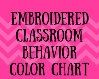Embroidered Classroom Behavior Color Chart