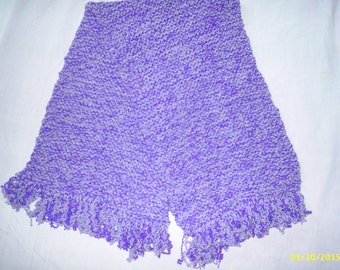 Chunky Purple scarf made from reclaimed wool