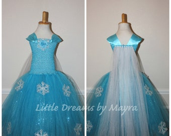 Affordable Elsa dress inspired - Queen Elsa costume inspired - Snow Queen tutu dress size nb to 12years
