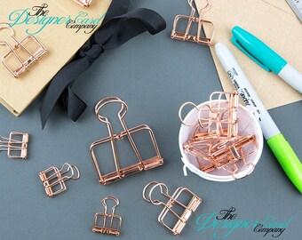 Clip di Bulldog filo oro rosa | Clip di carta | Pianificatore Clip | Filo Clip | Clip dello scheletro