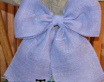 Burlap bow, Wedding bow, Pew bow, Wedding decor, bows, bow, chair bow, Rustic wedding decor, country wedding, burlap wedding, rustic docor