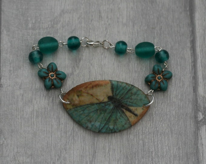 Blue Butterfly Bracelet, Butterfly Bracelet, Butterfly Bar Bracelet