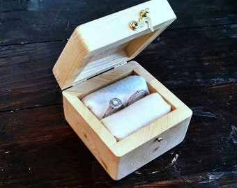 Wooden Jewelry Box: Rustic Handmade Reclaimed