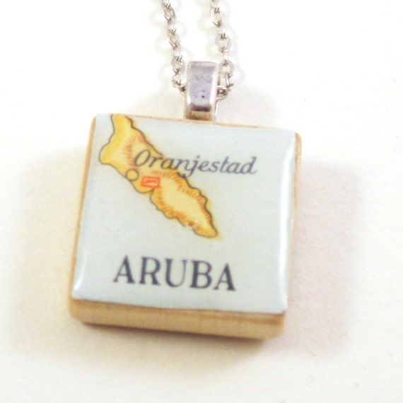 Scrabble tile necklace - Latin America variations