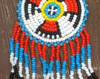 Native American Eagle Glass Bead Handmade necklace