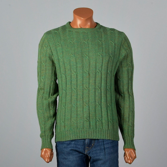 Cable 1960s Knit Pull Wool Separates Sleeve Separates Vintage Sweater Long Mens Wool Over Sleeve 60s Sweater Long Medium dqwCtq