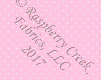 Pink and White Pin Polka Dot 4 Way Stretch Jersey Knit Fabric, Club Fabrics