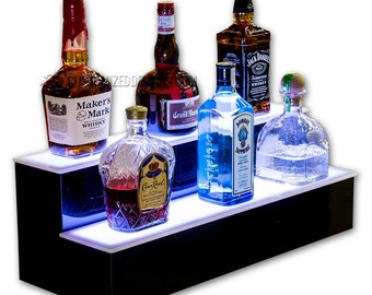 "24"" 2 Tier LED Lighted Home Bar Shelf - Free Shipping!"