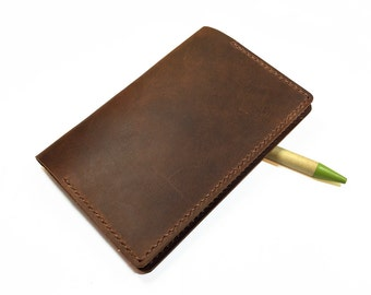 Leather Notebook cover- Leather Field Notes cover- Handmade notebook cover