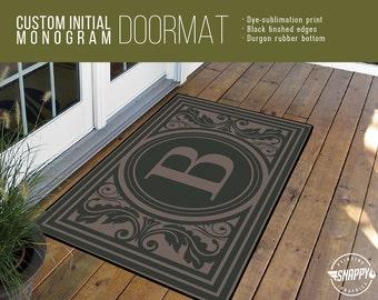 Exceptionnel More Colors. Custom Initial Monogram Welcome Mat/Doormat/Rug ...