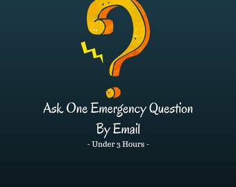 Emergency Same Day Email Psychic Reading - One Question - Under 3 Hours - Honest / Fast Answers - (PDF)