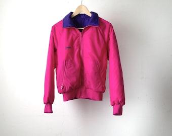 columbia brand 90s COLOR BLOCK neon womens SKI purple & pink snowboard rain coat columbia Jacket