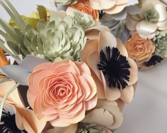 "PAPER FLOWER Bouquet 8"" Wide"