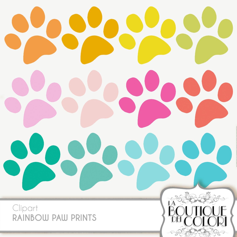 Cliparts de impresión de la pata mascota Clip Art. Perro /