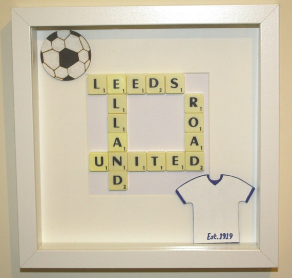 Leeds United Frame, Football gift for men, gift for her, father\'s ...